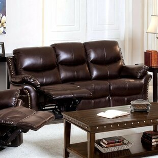 Burlington Bonded Leather Reclining Sofa by Canora Grey Looking for