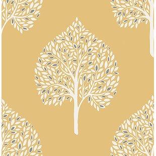Mustard Yellow Wallpaper Wayfairca