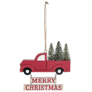 bd9aa51809a7 Merry Christmas Truck Ornament Hanging Figurine (Set of 12). By The Holiday  Aisle