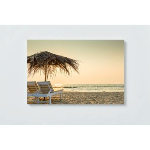 Beach Motif Magnetic Wall Mounted Cork Board By Ebern Designs