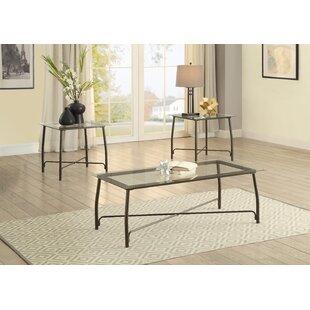 Charlton Home Bonin 3 Piece Coffee Table Set