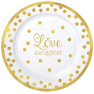 Wedding Premium Plastic Dinner Plate (Set of 20)  sc 1 st  Wayfair & Disposable Wedding Plates | Wayfair