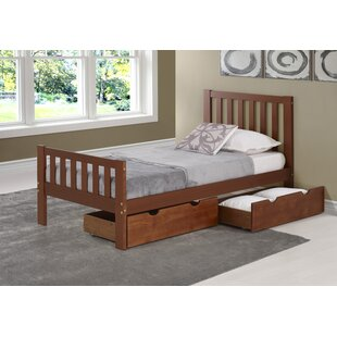 Crescent Twin Platform Bed with Drawers by Harriet Bee
