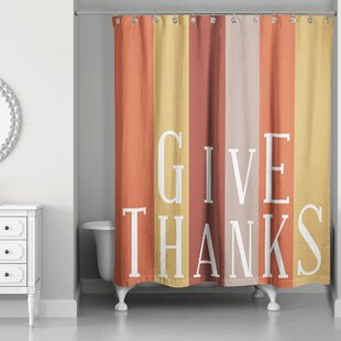 Collin Give Thanks Single Shower Curtain
