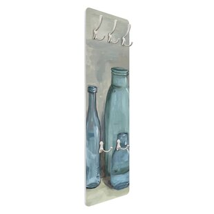 Still Life With Glass Bottles II Wall Mounted Coat Rack By Symple Stuff