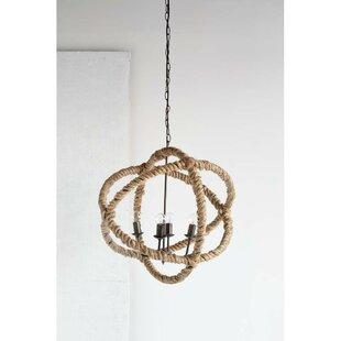 Reviews Morganton 4-Light Globe Chandelier By Beachcrest Home