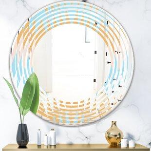 Quatrefoil Geometrical Diamond IV Modern Wall Mirror by East Urban Home