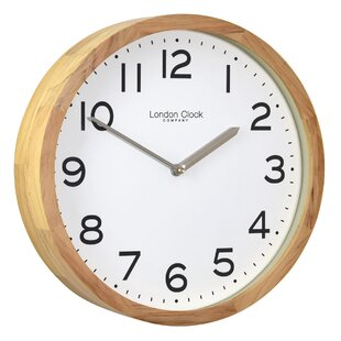 Light oak wall clock new house designs light oak wall clock wayfair co uk aloadofball Choice Image