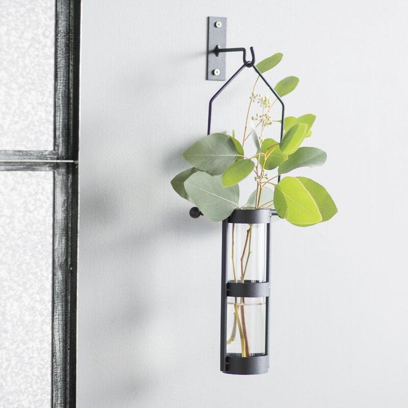 Hanging Cylinder Wall Vase