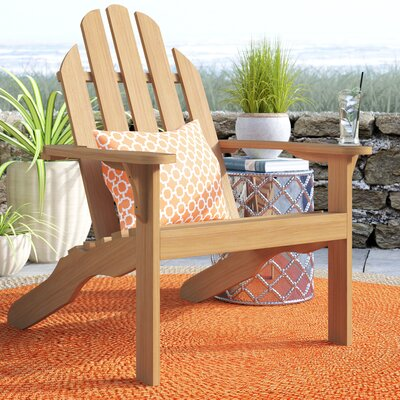 Myrtle Avenue Teak Adirondack Chair Beachcrest Home