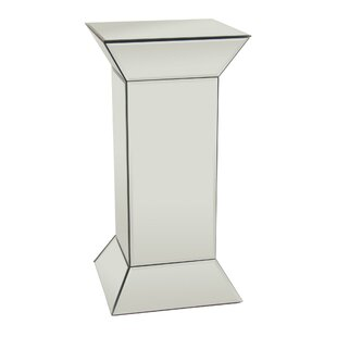 Decker Glass Mirrored End Table