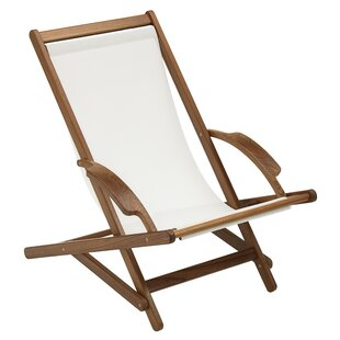 Folding Beach Chair with Cushion by Whitecap Industries