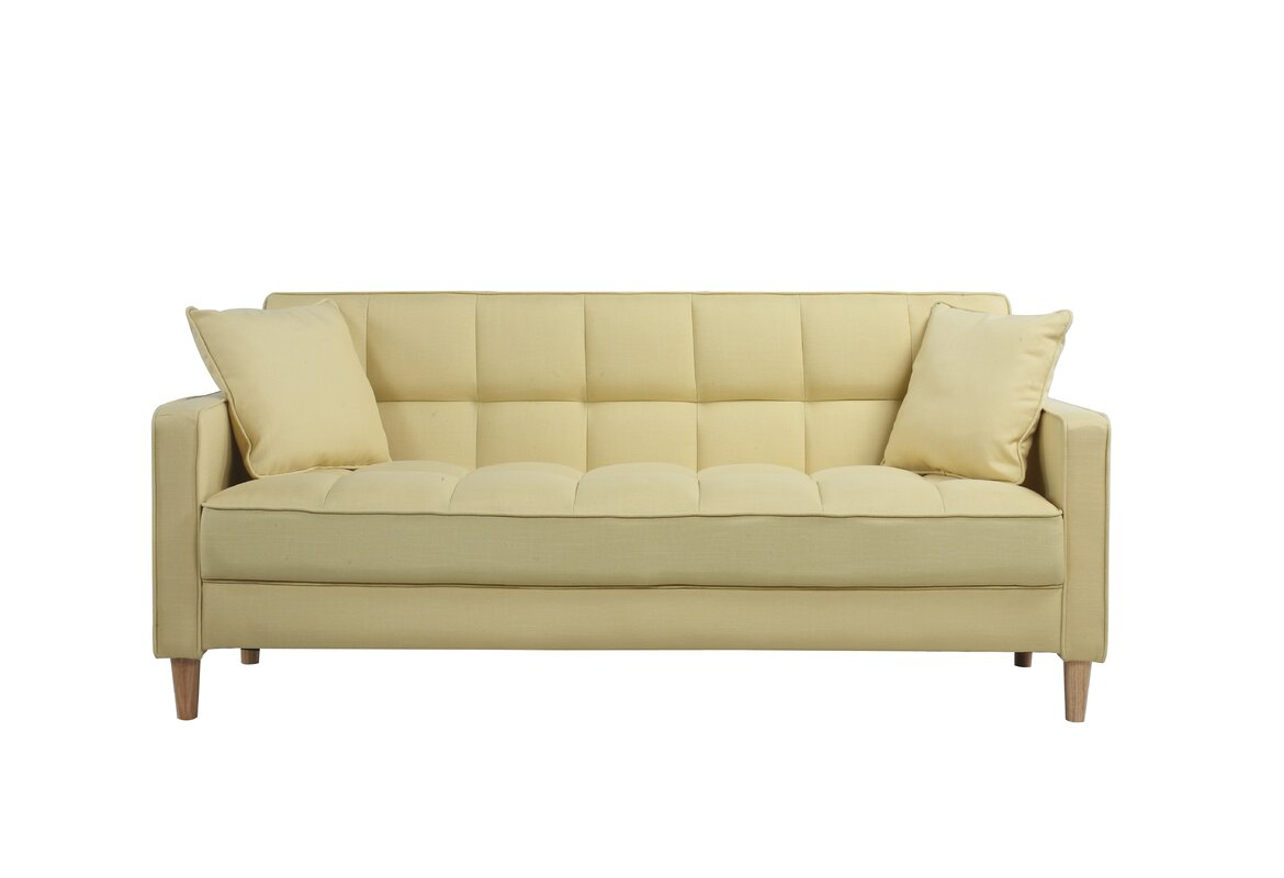 Captivating Modern Linen Fabric Tufted Small Space Sofa