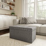 Charest Folding Tufted Storage Ottoman by Charlton Home®