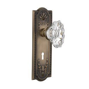 Chateau Interior Mortise Door Knob with Meadows Plate by Nostalgic Warehouse