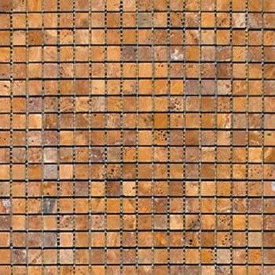 0625 x 0625 Travertine Mosaic Tile Epoch Color Golden Sienna