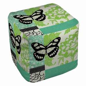 Butterfly Journey 2 Ottoman by Manual Woodworkers & Weavers