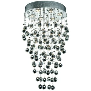 Everly Quinn Deidamia 6-Light Flush Mount