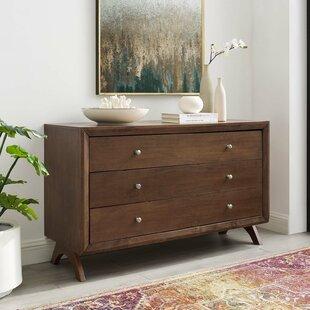 Wrought Studio Nehemiah 3 Drawer Dresser