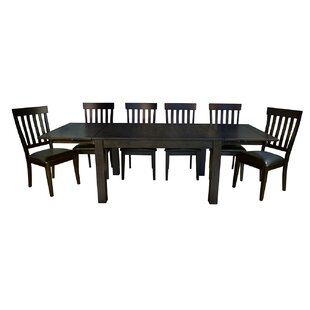 Lolington 7 Piece Solid Wood Dining Set