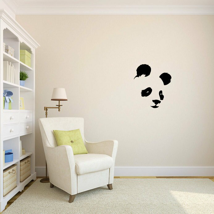 Idabel Panda Bear Face Wall Decal