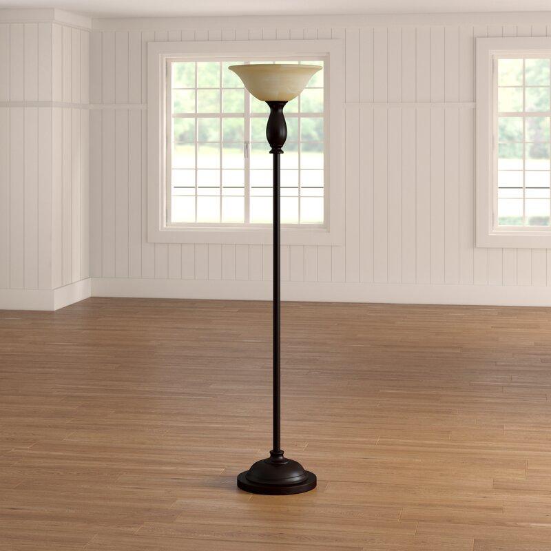 Alcott Hill Clement 71 Torchiere Floor Lamp Reviews Wayfair