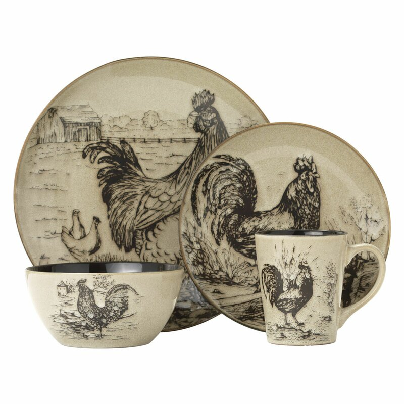 Rooster Pottery Tea Pot Home and Garden Kitchen and Dining Serve Ware Tableware Coffee and Tea