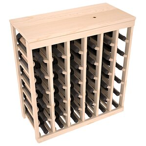 Karnes Pine 36 Bottle Floor Wine Rack by Red Barrel Studio