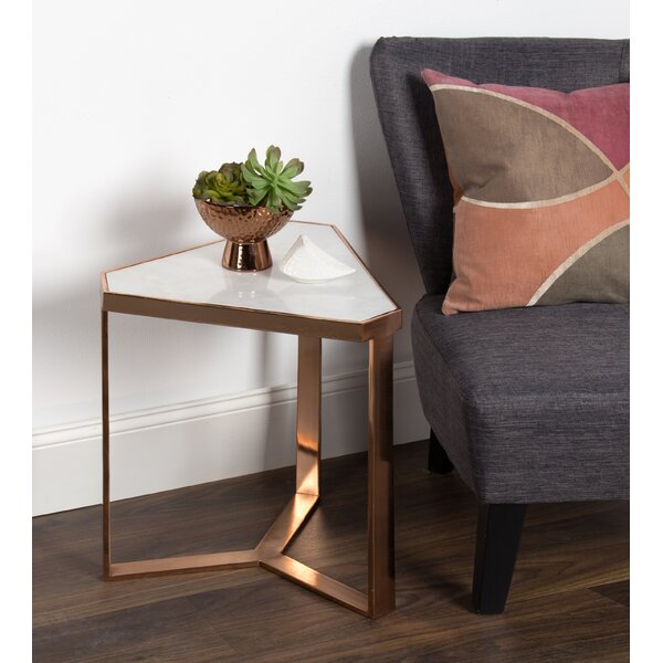 Genial Bungalow Rose Perera Marble Triangle End Table | Wayfair