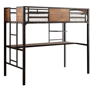 Southmead Twin Bunk Bed with Workstation by Harriet Bee