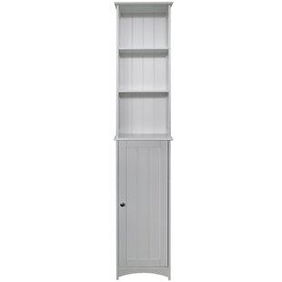 34 5 X 165cm Free Standing Tall Bathroom Cabinet