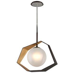 Wolak 1-Light LED Geometric Pendant by Mercury Row