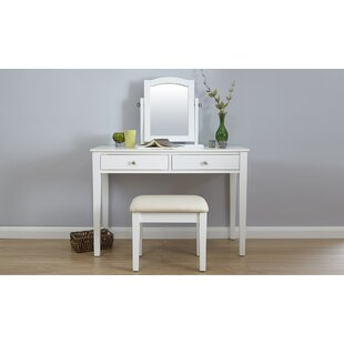 Arundel Dressing Table Set With Mirror By Three Posts