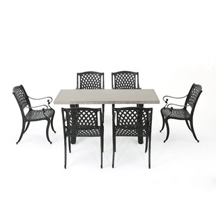 Stockholm Outdoor 7 Piece Dining Set Red Barrel Studio