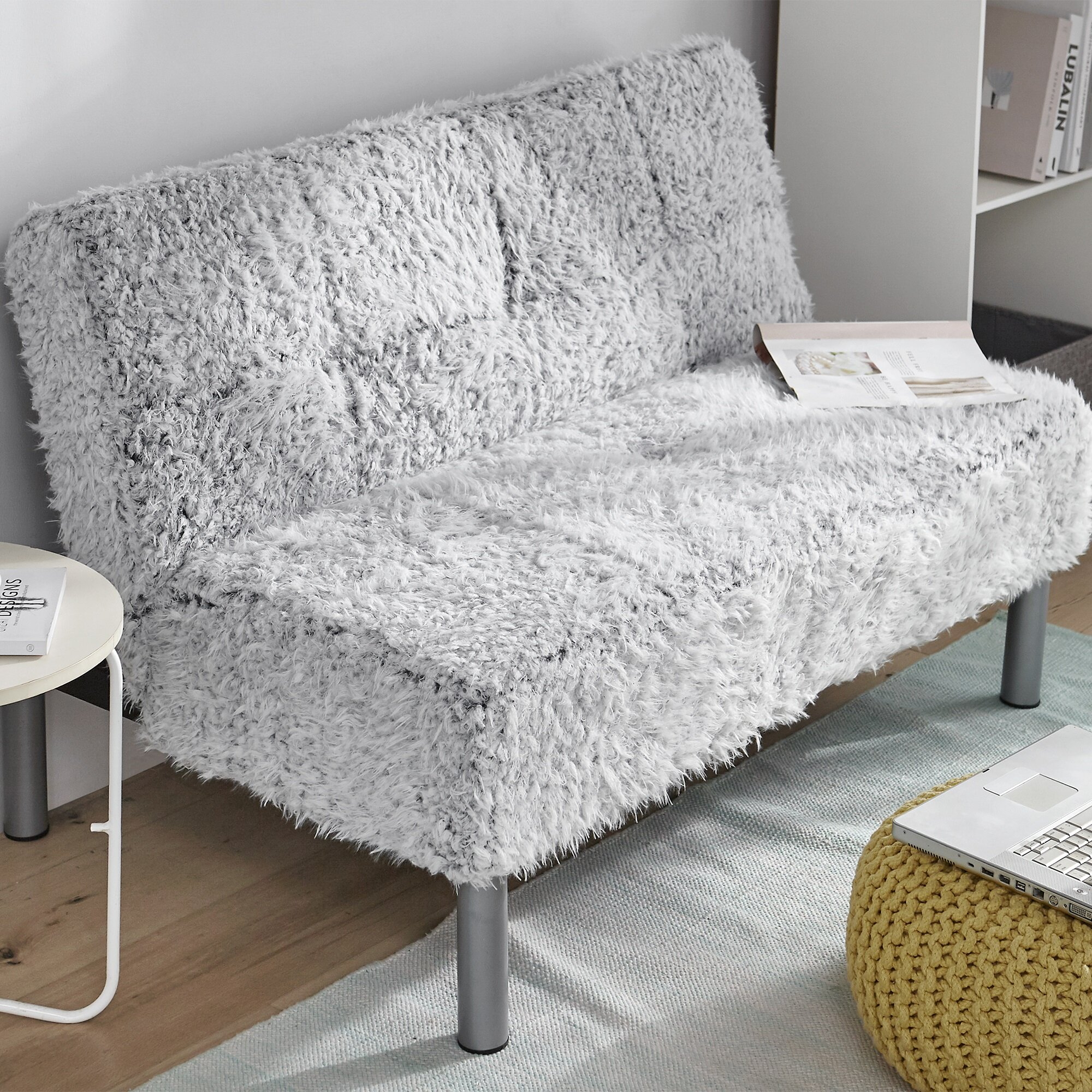 Latitude Run Avreigh Twin Or Smaller Tufted Back Convertible Sofa Wayfair