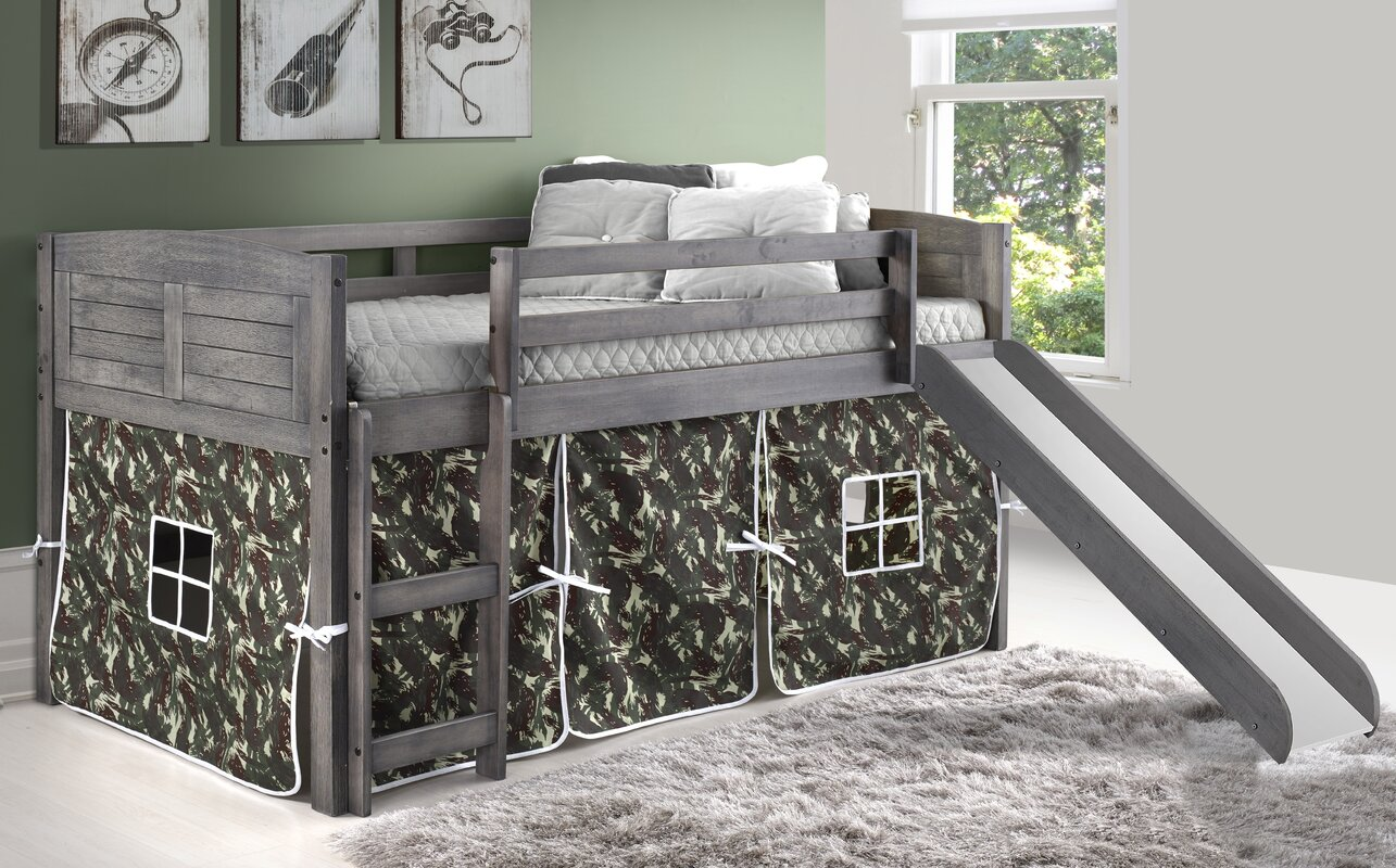 Harriet Bee Chonie Louver Twin Low Loft Bed