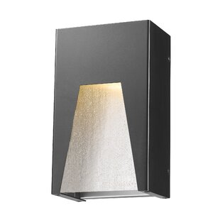 Ajhar 1-Light Glass Shade Outdoor Flush Mount By Willa Arlo Interiors Outdoor Lighting