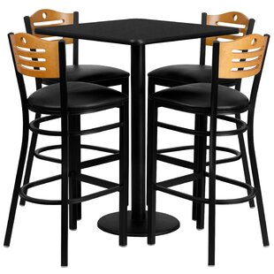 Joyeta 5 Piece Pub Table Set i..