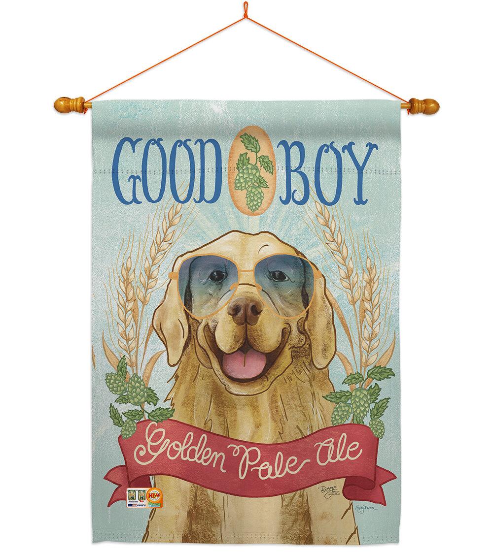 Breeze Decor Golden Pale Ale Impressions Decorative Wood Dowel With String House Flag Set Hs110100 Bo 03 Wayfair