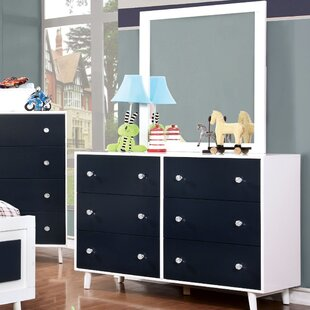 Sea Dog 6 Drawer Dresser With Mirror