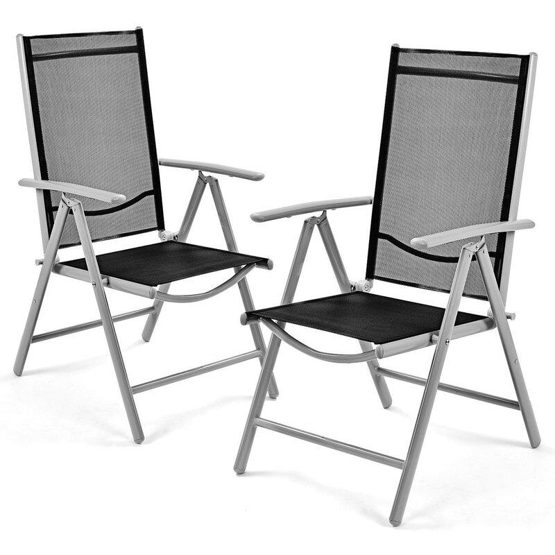 CASAINC Set Of 2 Patio Folding Chairs (Set of 2)