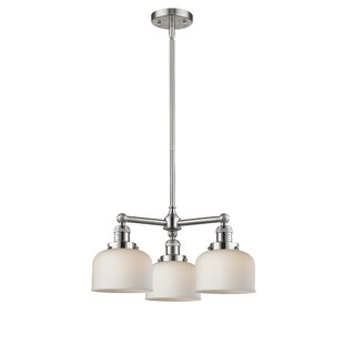 Price comparison Wymore 3-Light Shaded Chandelier By Breakwater Bay