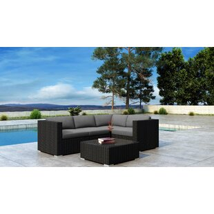Everly Quinn Glendale 5 Piece Sofa Set with Sunbrella Cushion