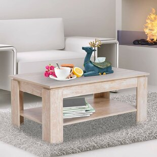 Sofley 2 Tier Distressed Wood Coffee Table