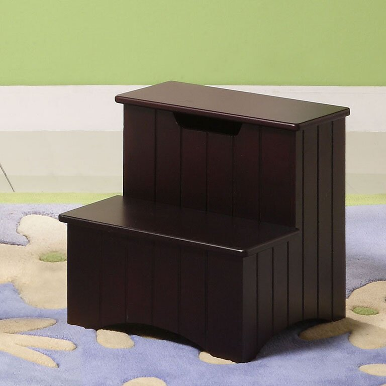 2-Step Manufactured Wood Storage Step Stool with 200 lb. Load Capacity & InRoom Designs 2-Step Manufactured Wood Storage Step Stool with ... islam-shia.org