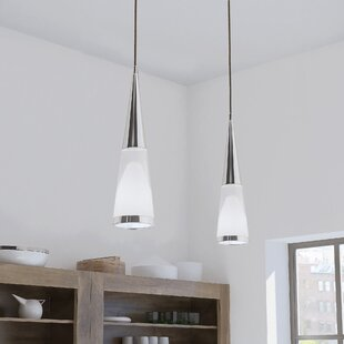 Orren Ellis Doyle 1-Light LED Cone Pendant