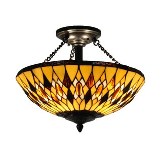 Astoria Grand Petty Diamond 3-Light Semi Flush Mount