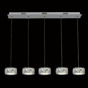 Orren Ellis Baggett 5-Light LED Kitchen Island Pendant
