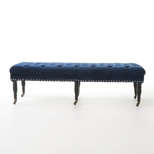 Cline Velvet Upholstered Bench with Caster by Willa Arlo Interiors
