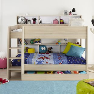 Demeter Twin over Twin Bed with Bookcase